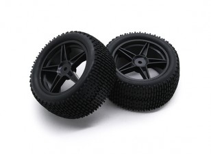 HobbyKing 1/10 Gekkota 5-Spoke Rear (Black) Wheel/Tire 12mm Hex (2pcs/bag)