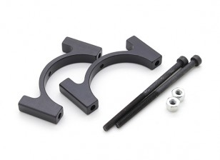 Black Anodized CNC Aluminum Tube Clamp 28mm Diameter