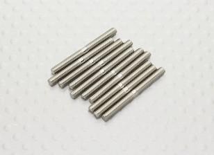 M2.5 x 25mm Steel Push Rod (10pc)