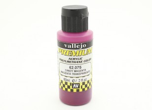 Vallejo Premium Color Acrylic Paint  - Candy Magenta (60ml) 62.075