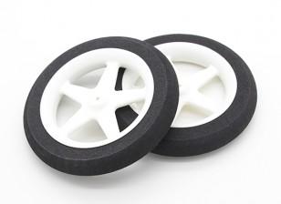 Light Foam Wheel 5 spoke (Diam: 80mm, Width 13mm) (2pc)