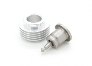 Cox .049 -.051 Glow Plug Adapter with Extra Cooling (5 Fin)