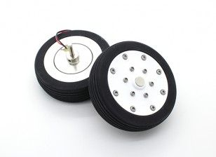"Dr. MadThrust 3.0"" / 75.5mm Main Wheels with Electro Magnetic Braking System (2pc)"