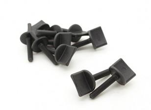 Nylon Thumbscrew Wing Bolt M4x20 (10pcs)