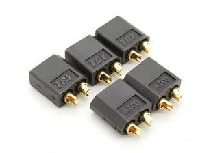 Black XT60 Male Connectors (5pcs)