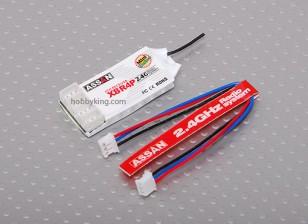 Assan X8R4P 4Ch 2.4GHz Receiver (Mini JST plug)