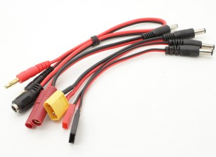 Multi-Function Charge Lead with 4mm Banana Plugs