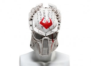 FMA Wire Mesh Full Face Mask (Wolf 6.0, White)