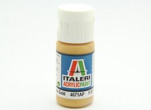 Italeri Acrylic Paint - Metal Gloss Gold (4671AP)