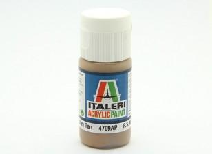 Italeri Acrylic Paint - Flat Dark Tan (4709AP)