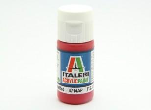 Italeri Acrylic Paint - Flat Insignia Red (4714AP)