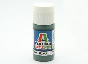 Italeri Acrylic Paint - Flat Euro 1 Dark Green (4729AP)