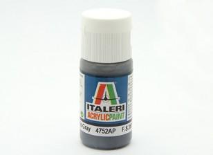 Italeri Acrylic Paint - Flat Gunship Gray (4752AP)