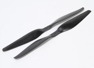 Multirotor Carbon Fiber T-Style Propeller 14x5.5 Black (CW/CCW) (2pcs)