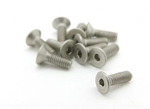Titanium M2.5 x 8mm Countersunk Hex Screw (10pcs/bag)