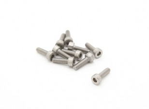 Titanium M2.5 x 8 Sockethead Hex Screw (10pcs/bag)