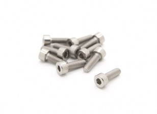Titanium M4 x 12 Socket Head Hex Screw (10pcs/bag)