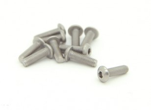 Titanium M3 x 10mm Dome Head Hex Screw (10pcs/bag)
