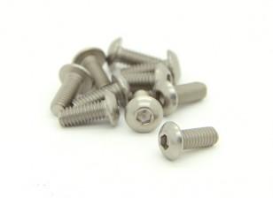 Titanium M4 x 10mm Dome Head Hex Screw (10pcs/bag)