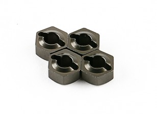 Titanium Wheel Hubs (4pcs) - Basher 1/16 Mini Nitro Circus MT