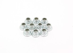 M4 Flange Nylock Nut (10pcs) - BSR Racing BZ-222 1/10 2WD Racing Buggy