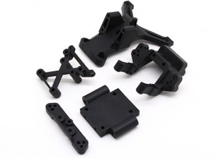 Shock Tower Support, Tie Rod Seat, Susp Arm Holder - BSR Racing BZ-222 1/10 2WD Racing Buggy