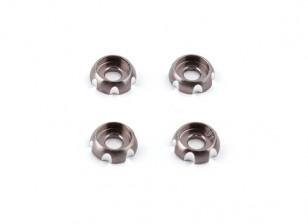 Aluminum 3mm CNC Roundhead Washer - Silver (4pcs)