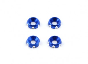 Aluminum 3mm CNC Countersunk Washer - Deep Blue (4pcs)