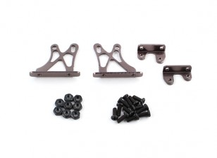 1/10 Alum. Adjustable Wing Support Frame - Low (Titanium)