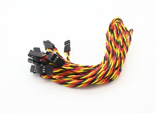 Twisted 30CM Female to Female Servo Lead (JR) 22AWG (10pcs/set)