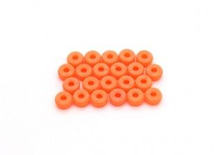 Tarot 450 Pro/Pro V2 DFC M2 Canopy Washers - Orange (TL2818-02)