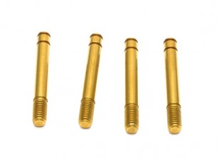 VBC Racing WildFireD06 - Titanium Coated Shock Shaft for TBB Shocks (4pcs)