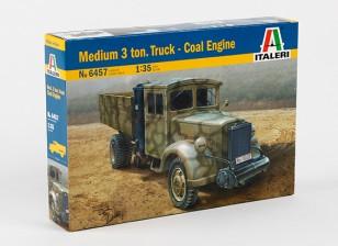 Italeri 1/35 Scale Medium 3 Ton Truck Coal Engine Plastic Model Kit