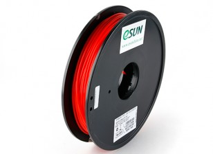 ESUN 3D Printer Filament Red 3mm PLA 0.5KG Spool