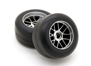 RiDE Pre-Glued F104 Front R1 High Grip Compound Slick Rubber Tire Set (2pcs)