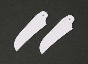RJX White 85mm Plastic Tail Blades (1 pair)
