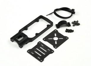 CNC Motor Mount for DIY Multi-Rotors 20mm Tube (Black)