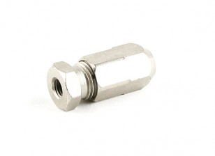 "HobbyKing™ Stainless Steel Marine Flexi-Shaft Adapter 1/4""UNF-5mm"