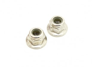 Lock Nut of Wheel (1 pair) - H.King Rattler 1/8 4WD Buggy