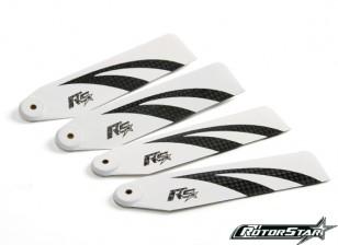 110mm RotorStar Assault Reaper 500 Premium 3K Carbon Fiber Blades - White (2 pairs)