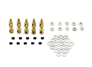 Brass Linkage Stopper For 1.2mm Pushrods (10pcs)