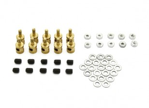 Brass Linkage Stopper For 2mm Pushrods (10pcs)