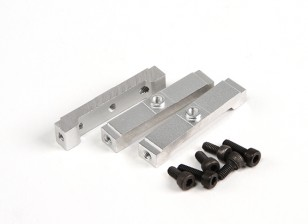 Assault 450L Flybarless 3D Helicopter CNC Lower Frame Fixing Block (3pcs)