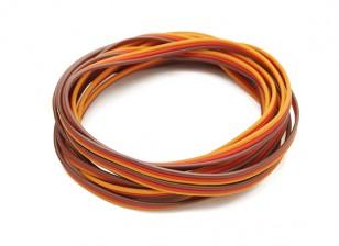 Flat 26AWG servo wire 2 mtr (R/O/B)