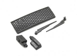 Wiper/Side Mirror/Grill Set - OH35P01 1/35 Rock Crawler Kit