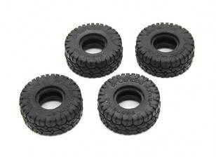 Big Block Tires (4pcs) - OH35P01 1/35 Rock Crawler Kit