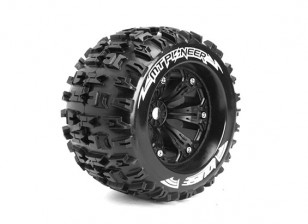 "LOUISE MT-PIONEER 1/8 Scale Traxxas Style Bead 3.8"" Monster Truck SPORT Compound/Black Rim/1/2 O/set"