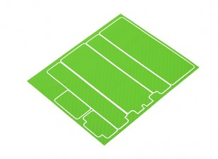 TrackStar Decorative Battery Cover Panels for Standard 2S Hardcase Green Carbon Pattern (1 Pc)