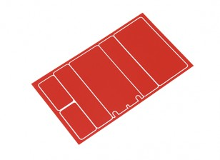 TrackStar Decorative Battery Cover Panels for 2S Shorty Pack Metallic Red Color (1 Pc)