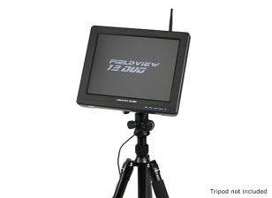 12 inch 800 x 600 LCD Sunlight Viewable FPV Monitor w/32CH Dual Receiver, PIP (EU plug)